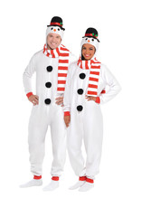 Snowman Zipster Costume - Adult