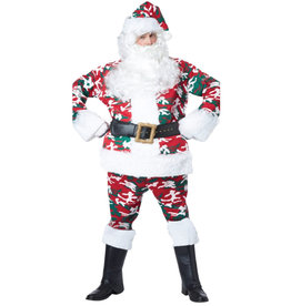 CALIFORNIA COSTUMES Camouflage Santa Suit Costume - Men's