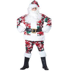 Camouflage Santa Suit Costume - Men's
