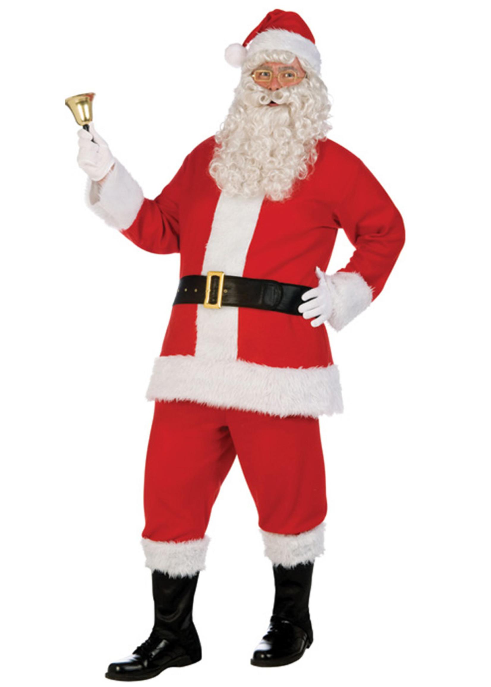 FORUM NOVELTIES Flannel Santa Deluxe Costume - Men's