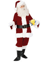 FORUM NOVELTIES Velvet Santa Suit Deluxe Costume - Men's