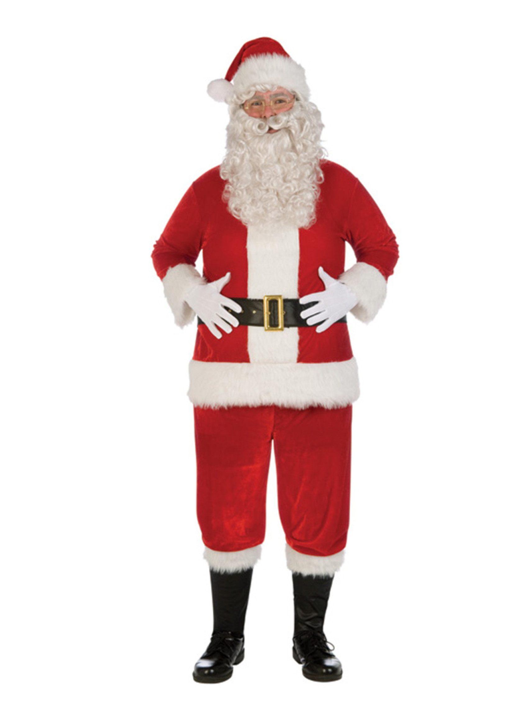 FORUM NOVELTIES Plush Santa Suit Costume - Men's
