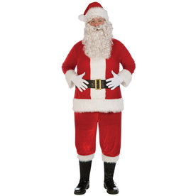 Plush Santa Suit Costume - Men's Plus