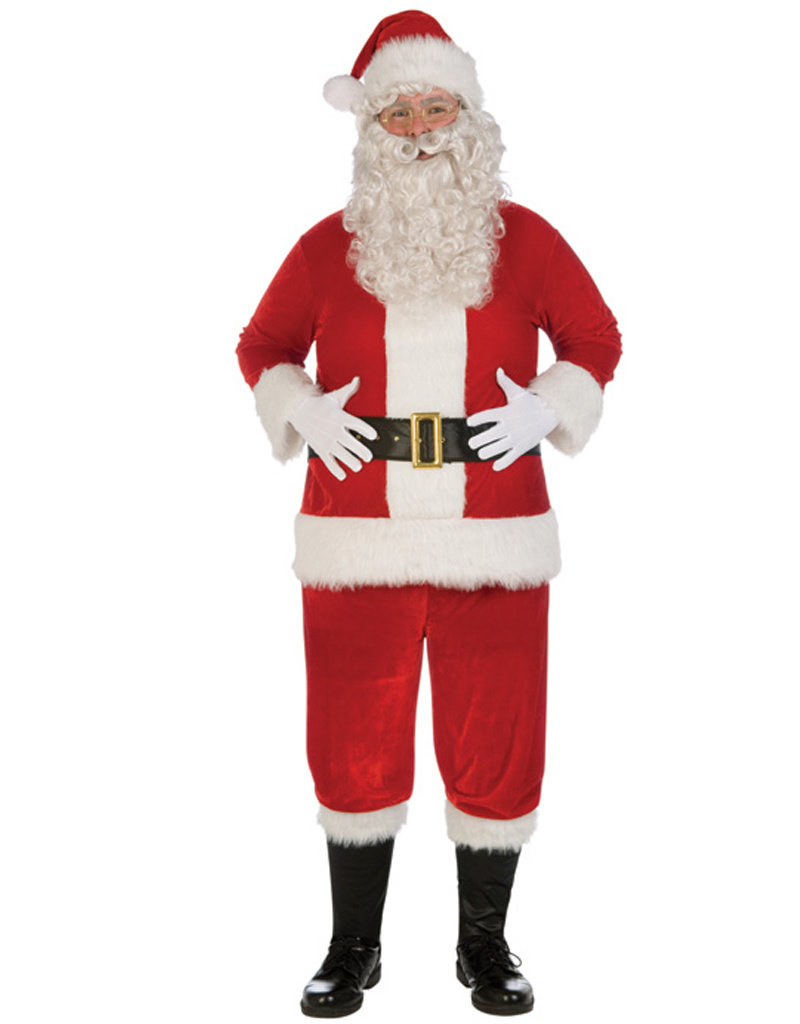 Plush Santa Suit Costume - Men's Plus