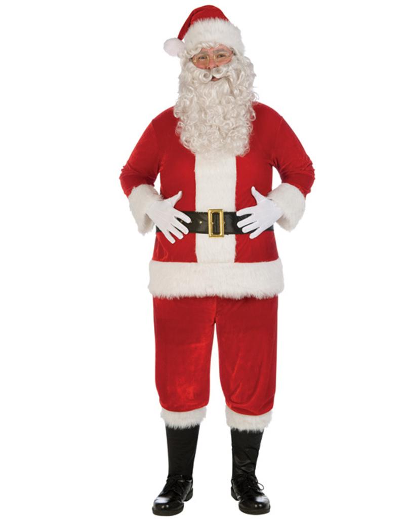 FORUM NOVELTIES Plush Santa Suit Costume - Men's Plus