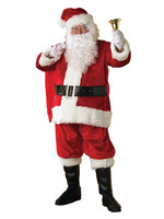 RUBIES Santa Suit Plush Deluxe Costume - Men's