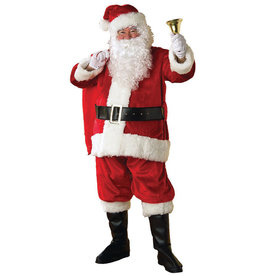 RUBIES Santa Suit Plush Deluxe Costume - Men's