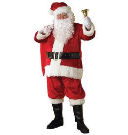 Santa Suit Plush Deluxe Costume - Men's