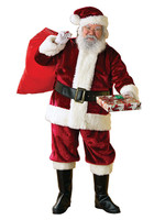 RUBIES Santa Suit Crimson Deluxe Costume - Men's
