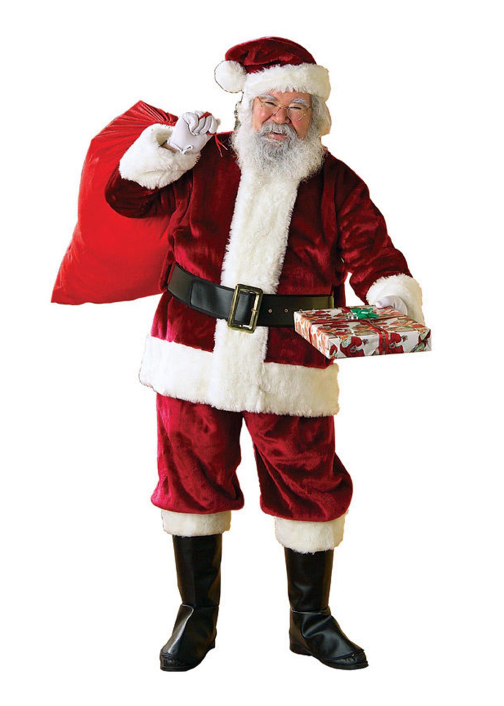 RUBIES Santa Suit Crimson Deluxe Costume - Men's