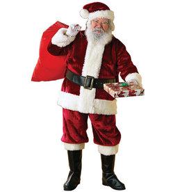 Santa Suit Crimson Deluxe Costume - Men's