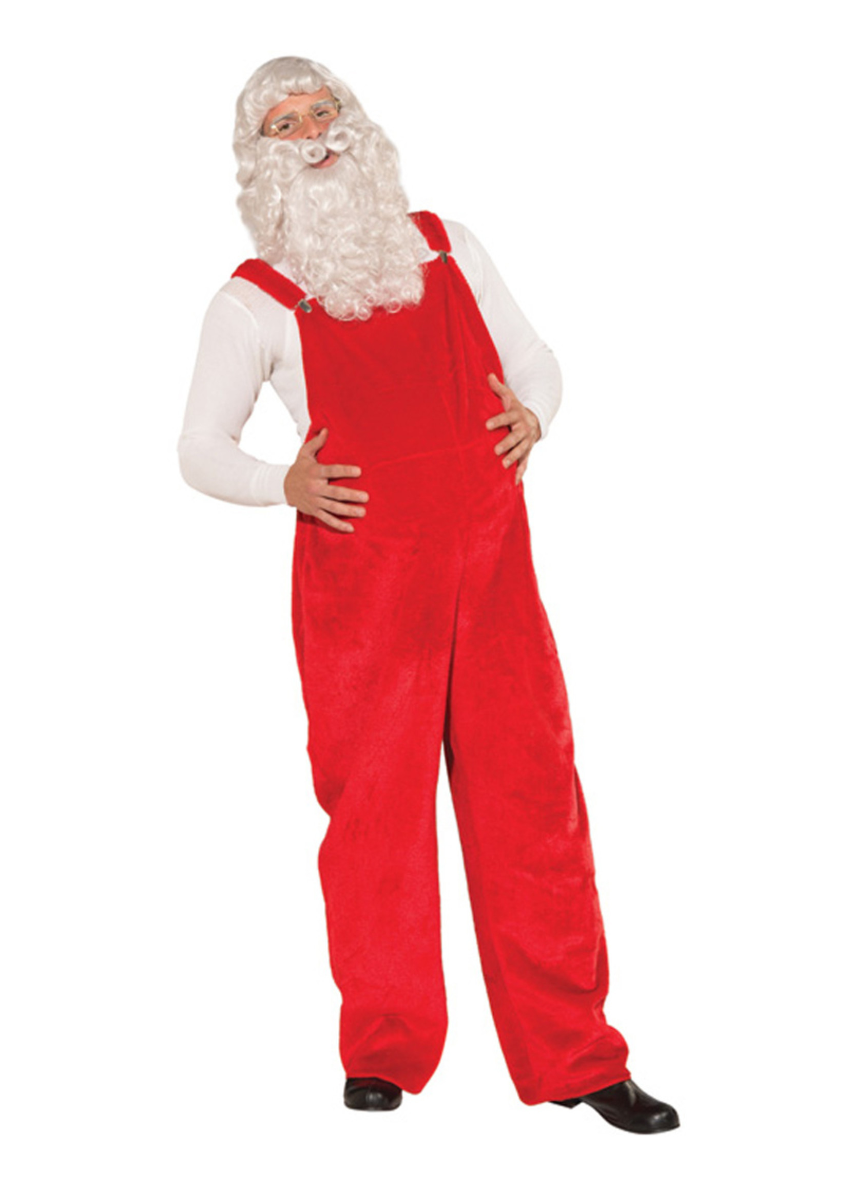FORUM NOVELTIES Santa Overalls Costume - Men's