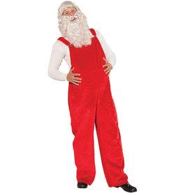 Santa Overalls Costume - Men's