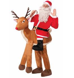 FORUM NOVELTIES Santa Ride-A-Reindeer Costume - Men's