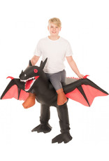 Black Ride On Dragon Inflatable - Boy