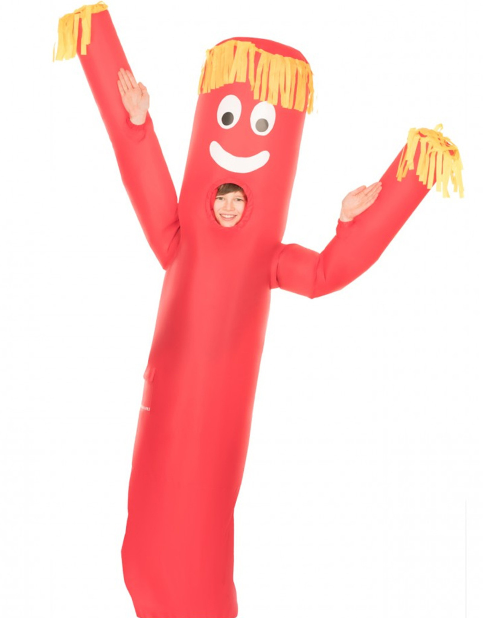 Red Wavy Arm Guy Inflatable - Youth