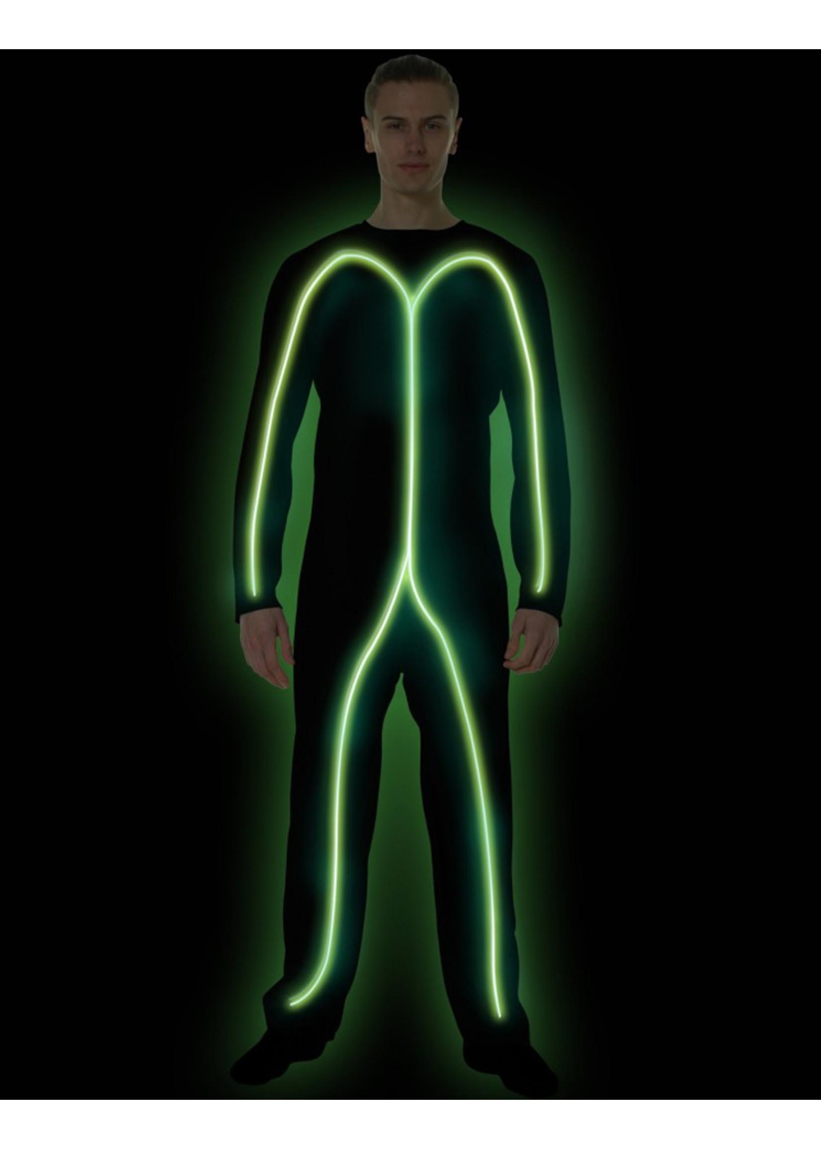 Green Glow Stick Man - Adult