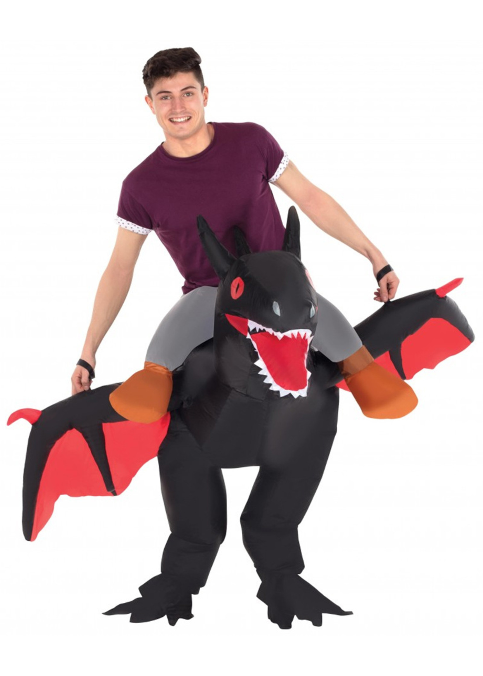 Ride On Black Dragon Inflatable - Adult