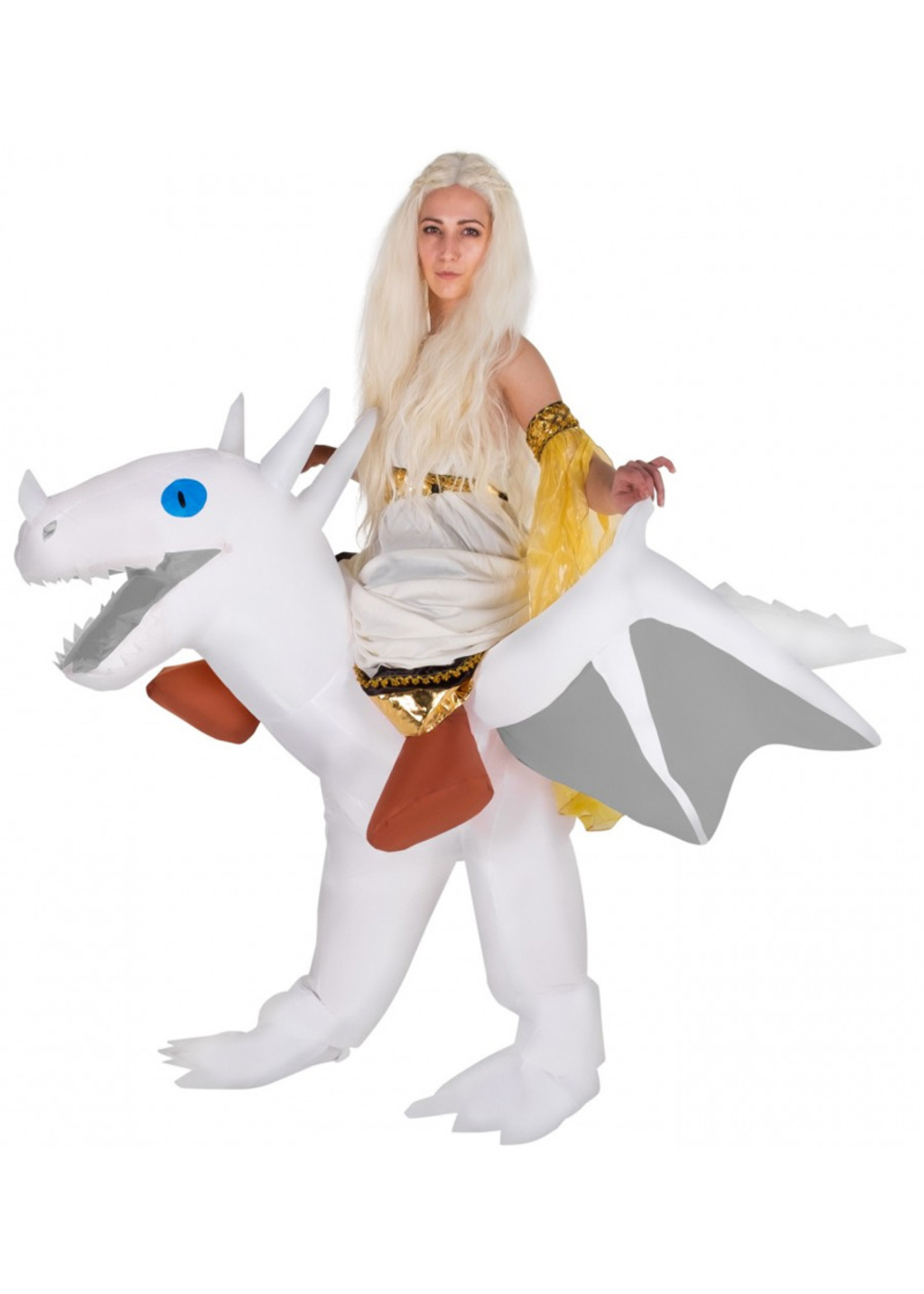 Ride On White Dragon Inflatable - Adult
