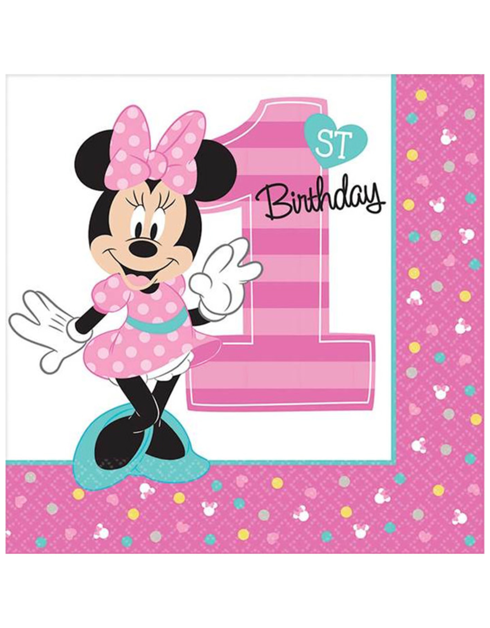 Minnie's Fun to Be One Luncheon Napkins - 16ct