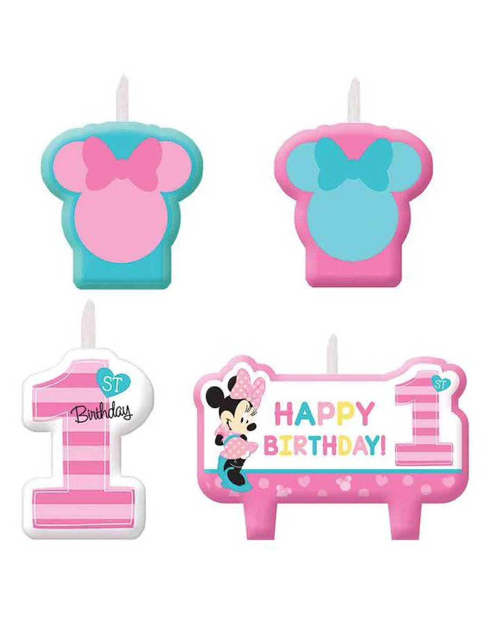 Minnie's Fun To Be One Candle Set (4 Candles)