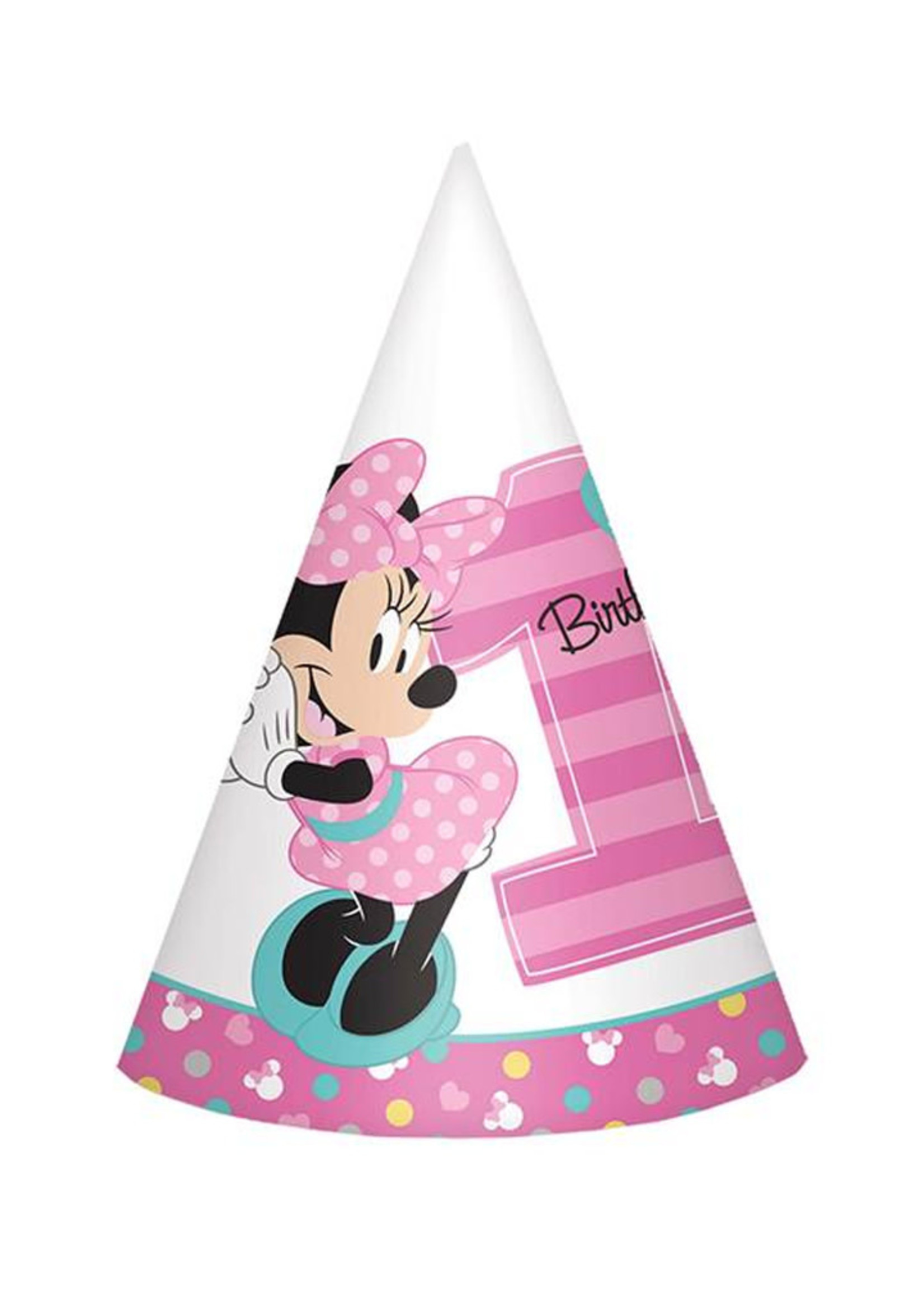Minnie's Fun to Be One Cone Hats - 8ct