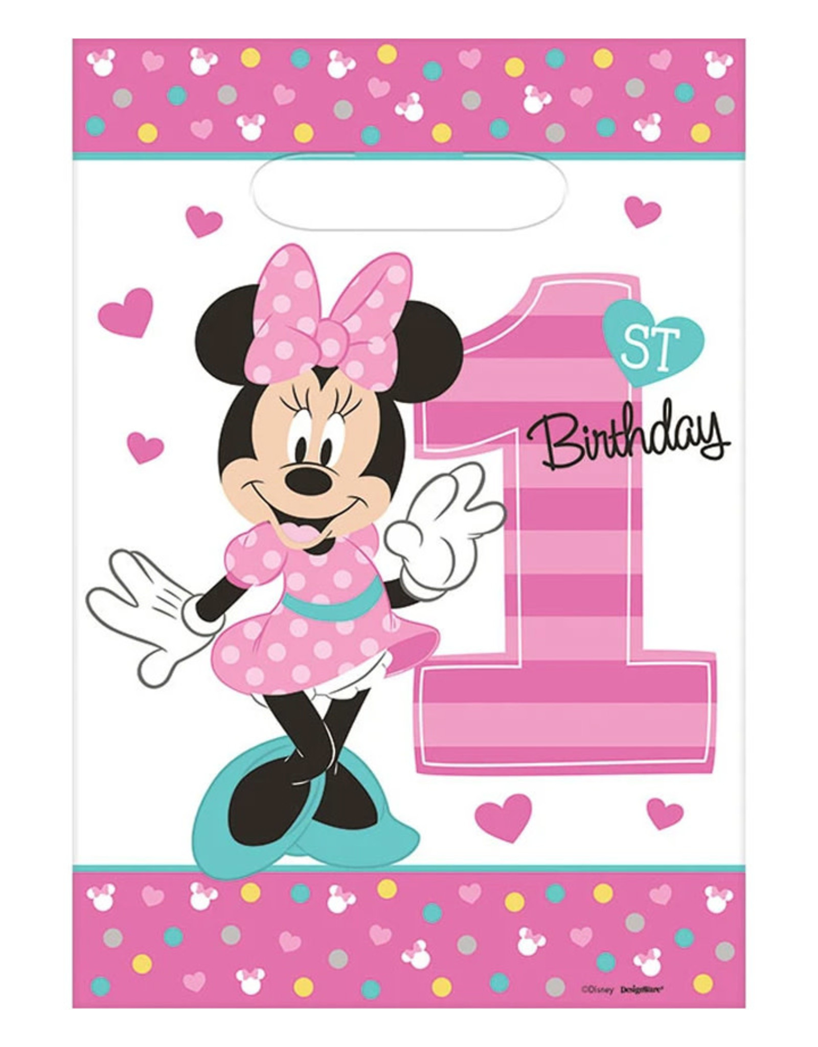 Minnie Fun To Be One Loot Bags - 8ct