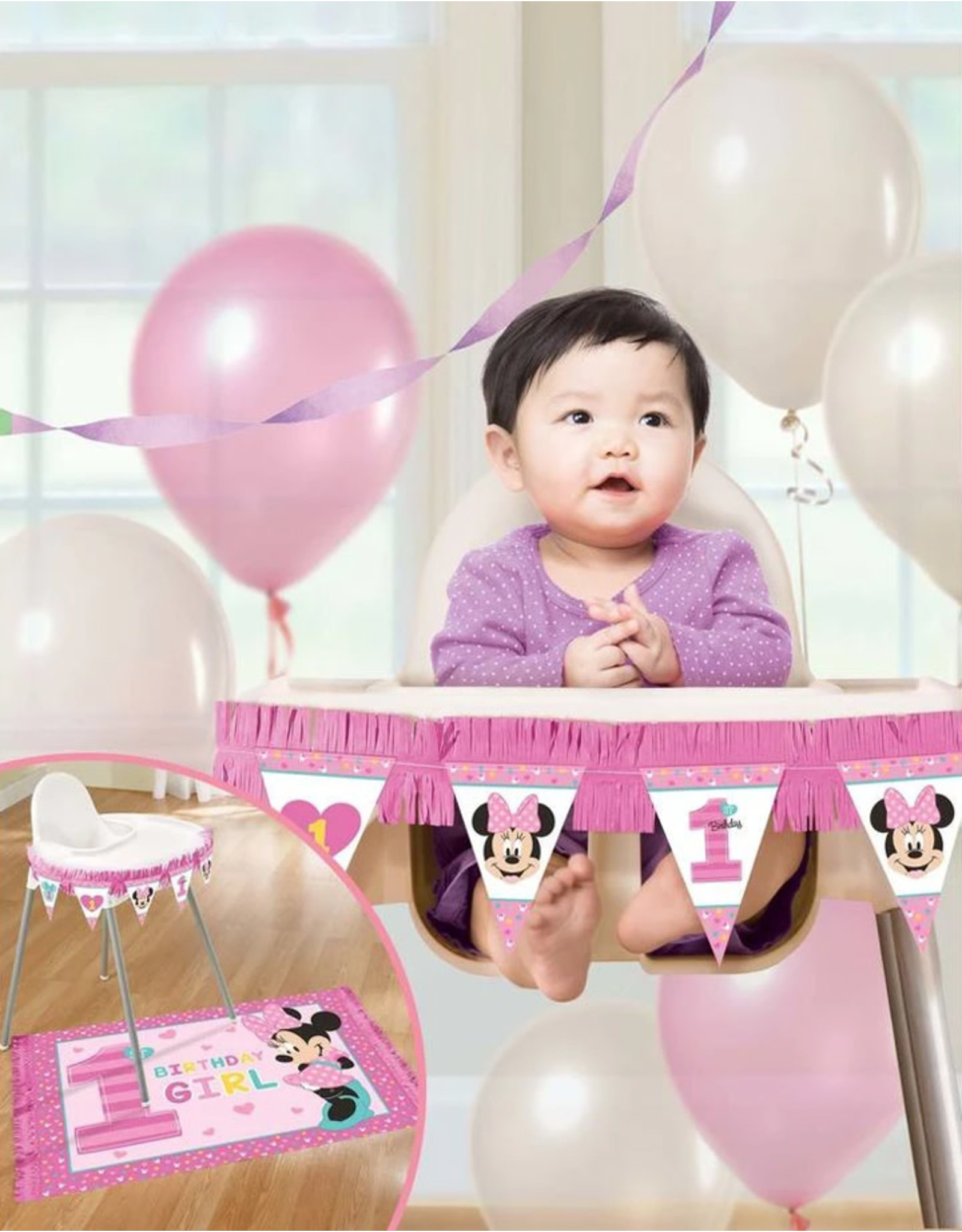 Minnie Fun To Be One High Chair Decorating Kit