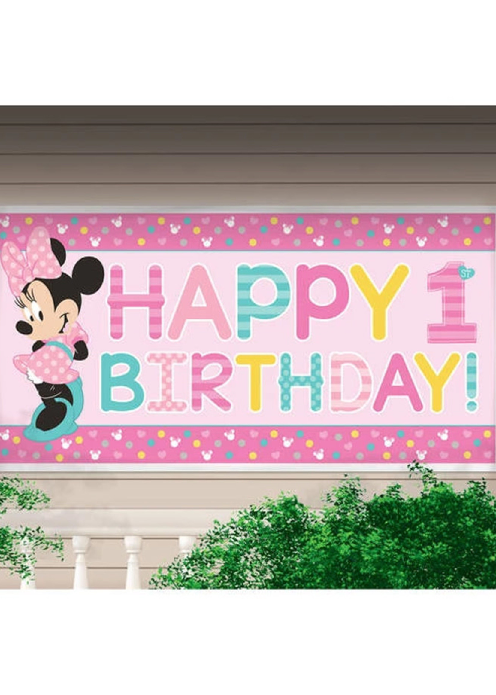 Minnie Fun To Be One Giant 5ft Banner