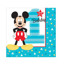 Mickey Fun To Be One Beverage Napkins - 16ct