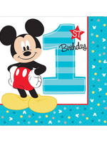 Mickey Fun To Be One Luncheon Napkins - 16ct
