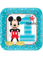 Mickey Fun To Be One Dessert Plates - 8ct