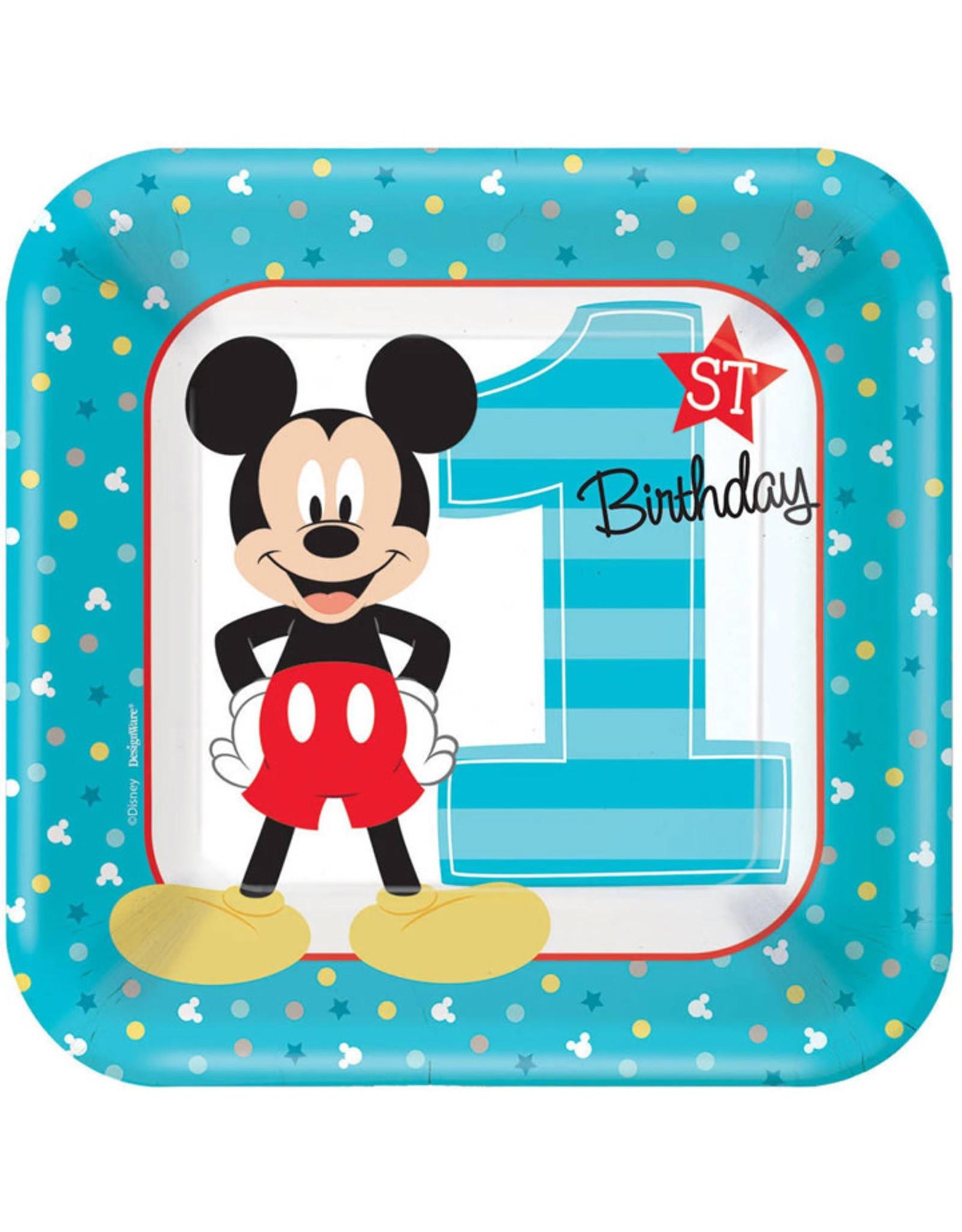 Mickey Fun To Be One Dessert Plates - 8ct