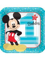 Mickey Fun To Be One Dinner Plates - 8ct