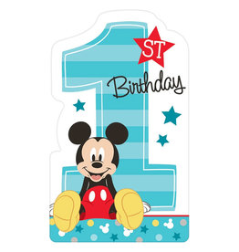 Mickey Fun To Be One Postcard Invitations - 8ct