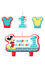 Mickey Fun To Be One Birthday Candle Set - 4ct