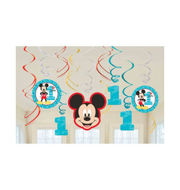Mickey Fun To Be One Hanging Swirls - 12ct
