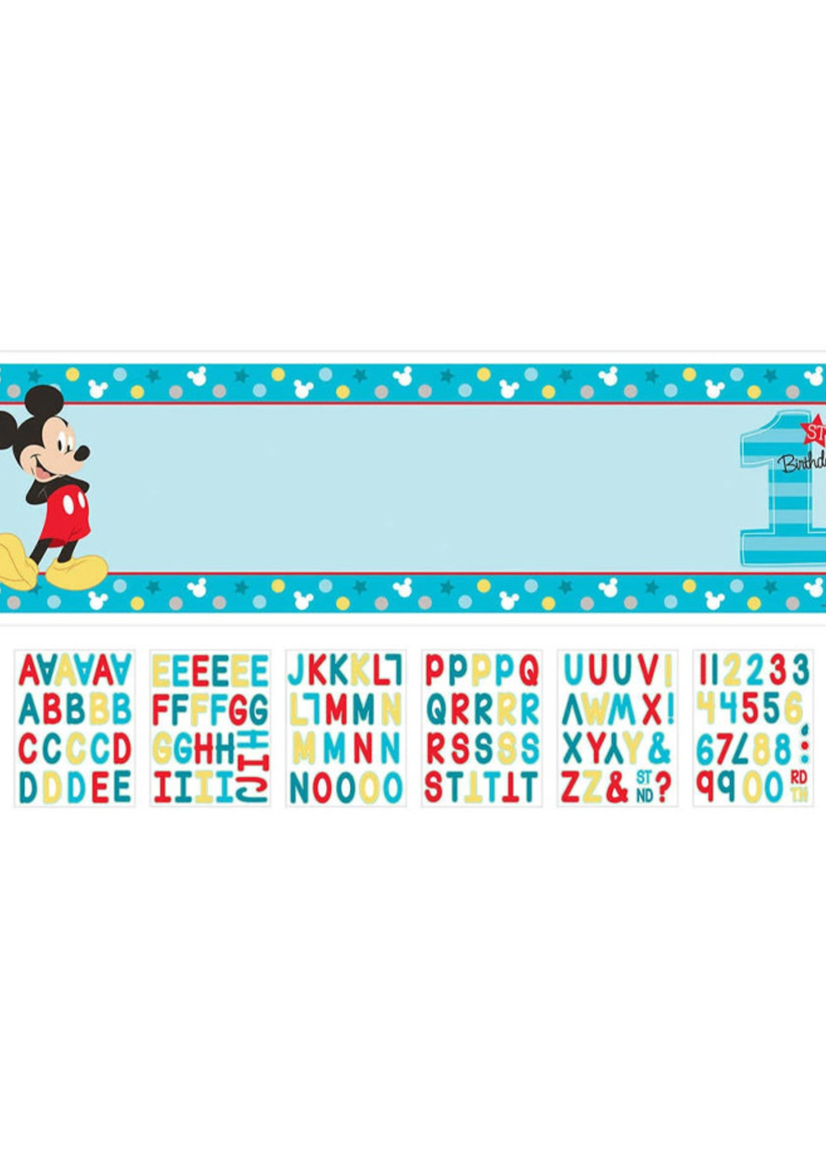 Mickey Fun To Be One Personalized Giant Banner