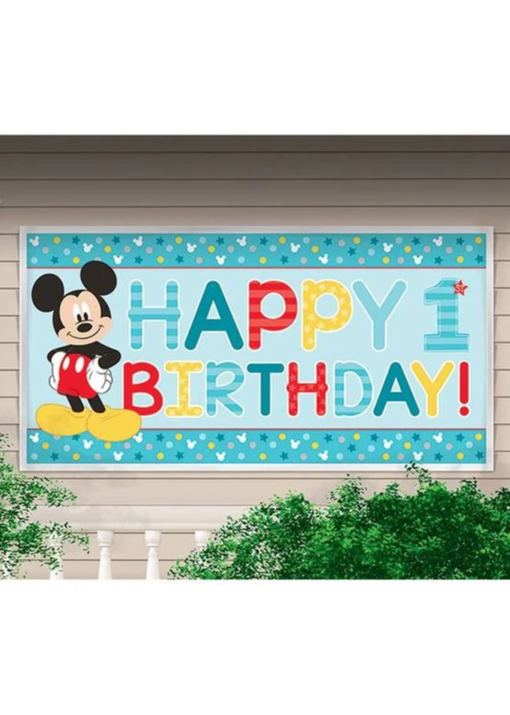 Mickey Fun To Be One 5ft Party Banner