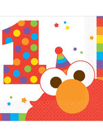 Elmo Turns One Beverage Napkins - 16ct