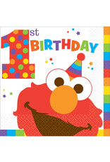 Elmo Turns One Luncheon Napkins - 16 ct