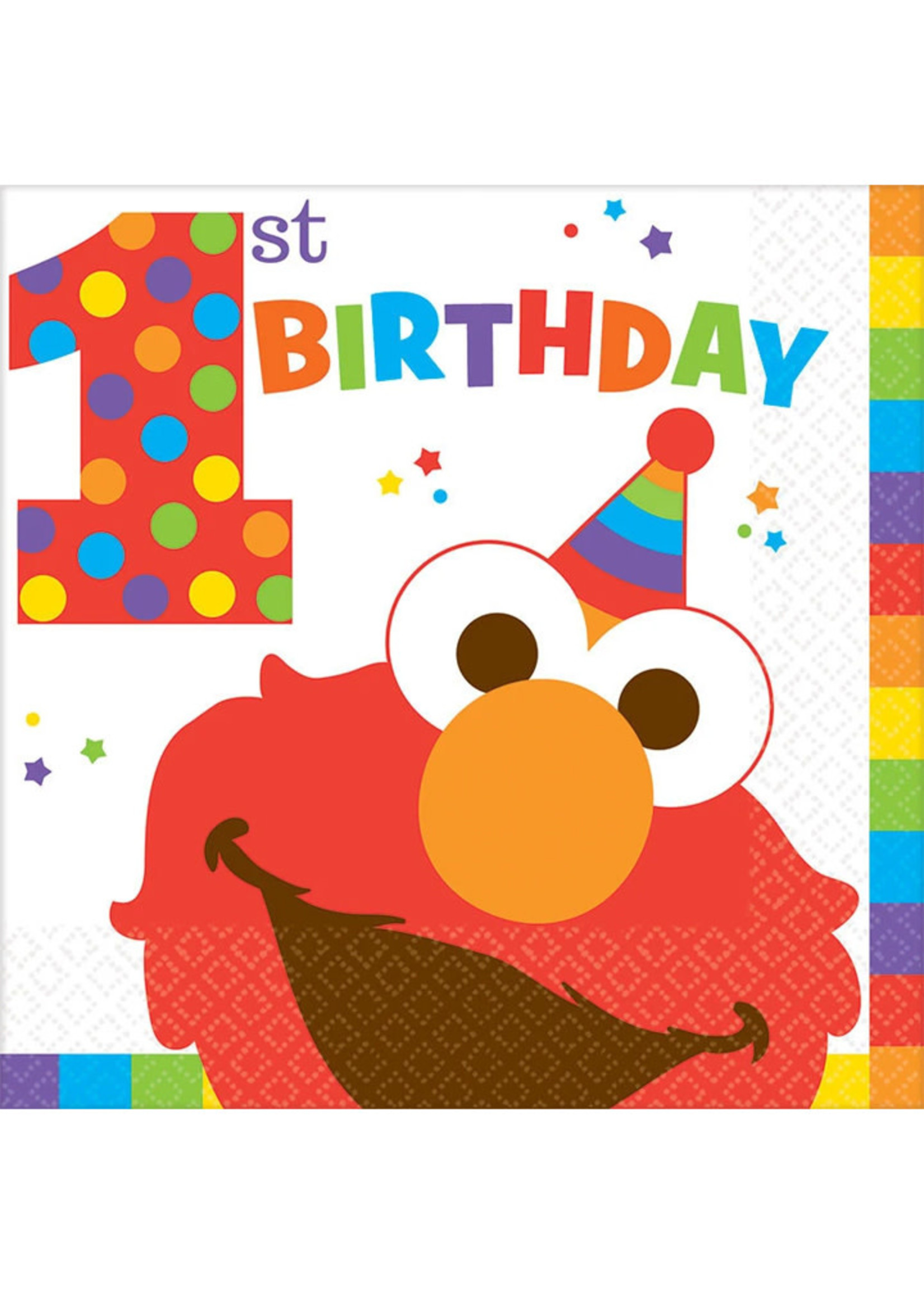 Elmo Turns One Luncheon Napkins - 16 ct