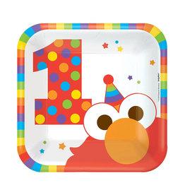 Elmo Turns One Dessert Plates - 8ct