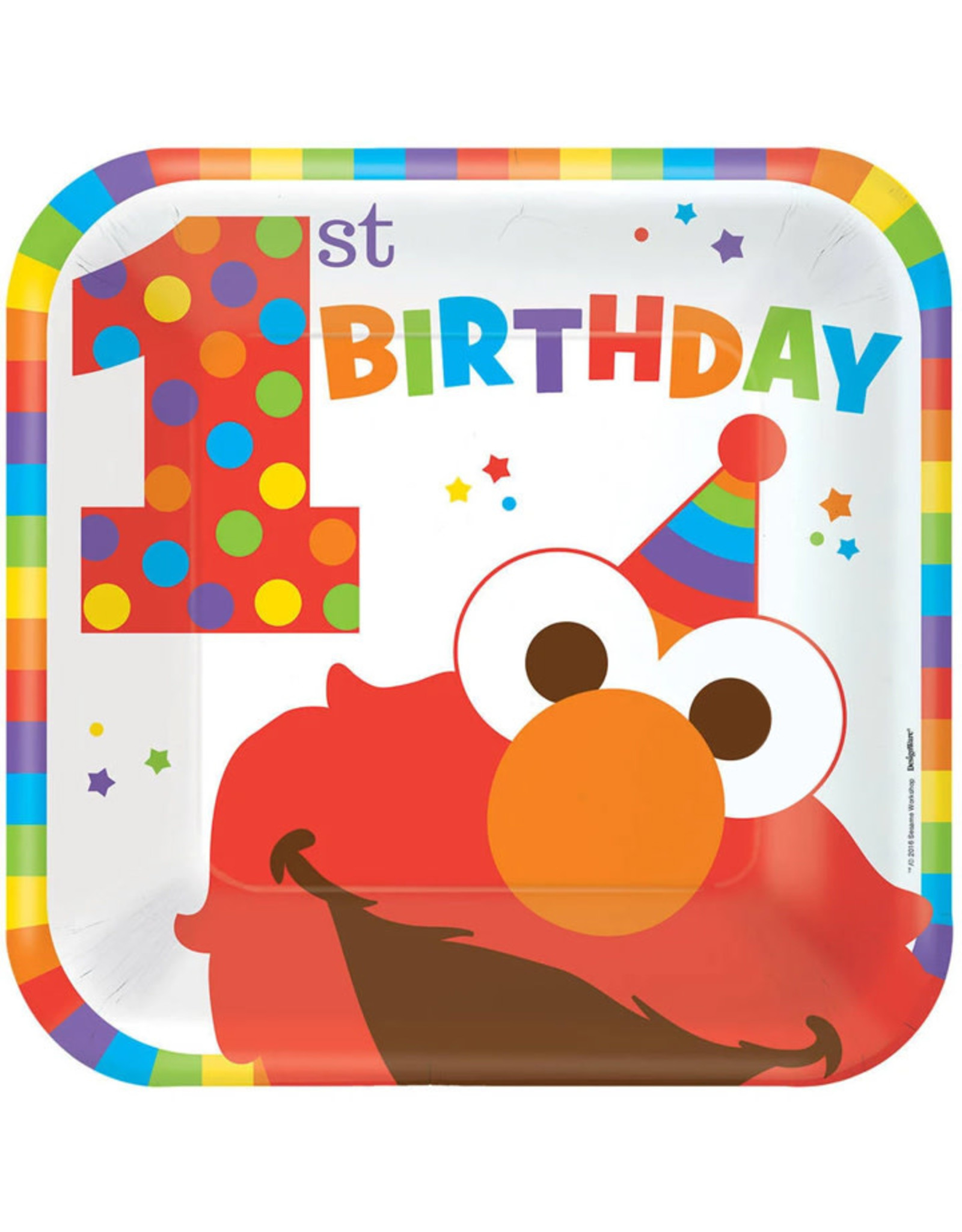 Elmo Turns One Dinner Plates - 8ct