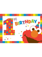 Elmo Turns One Invitations - 8ct