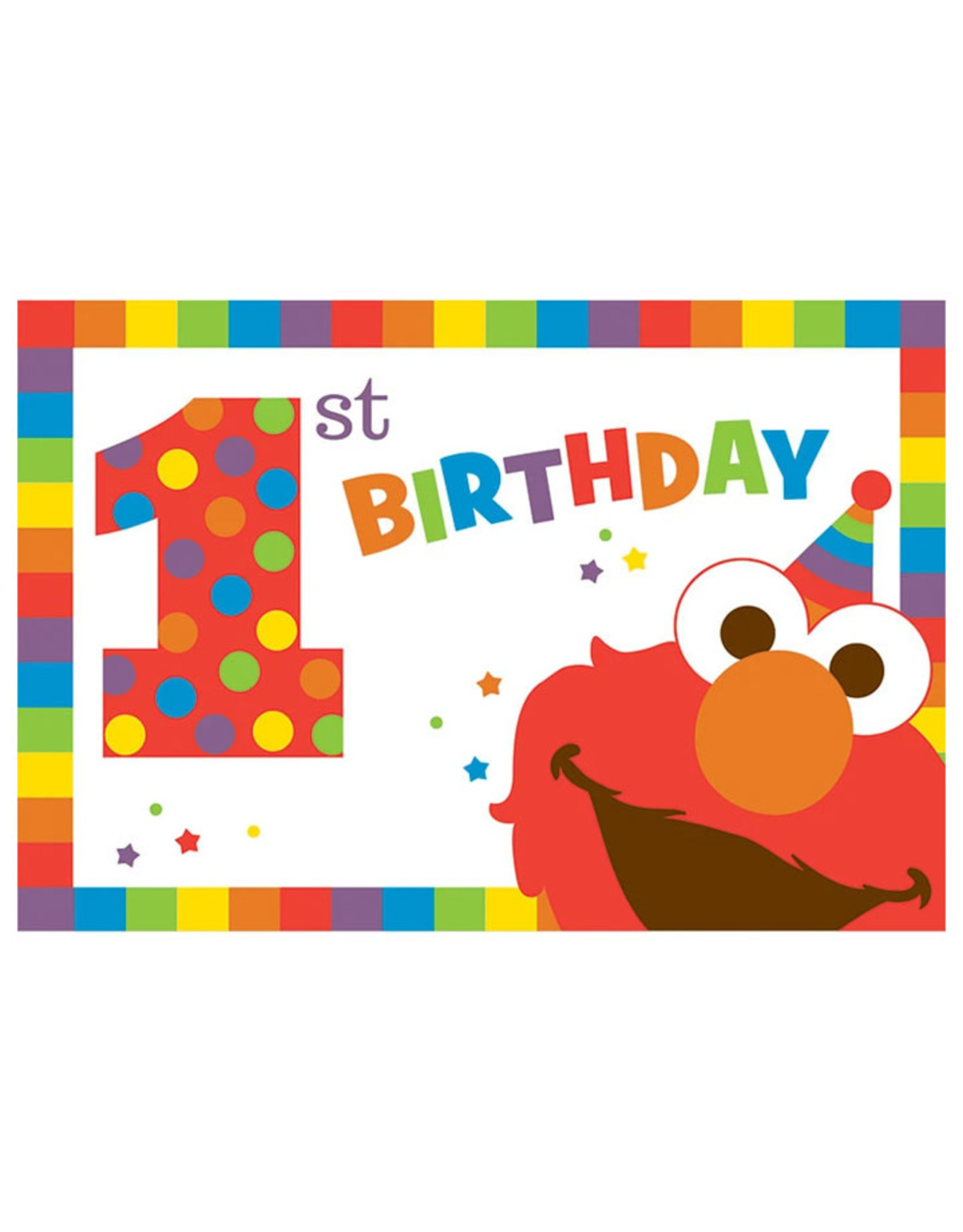 Elmo Turns One Invitations - 8ct