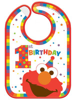 Elmo Turns One Birthday Bib