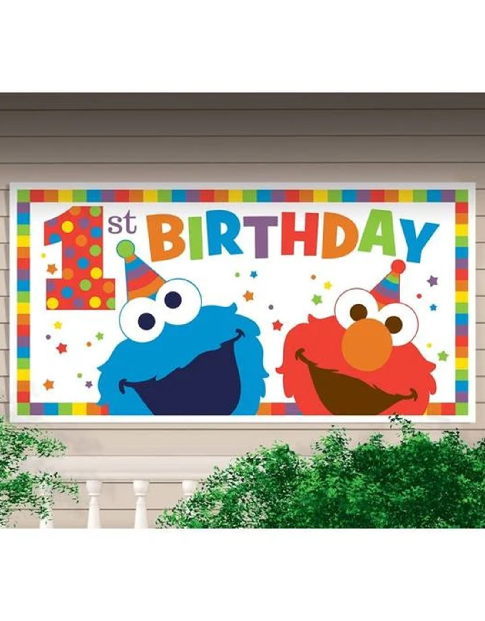 Elmo Turns One Party Banner - 5ft