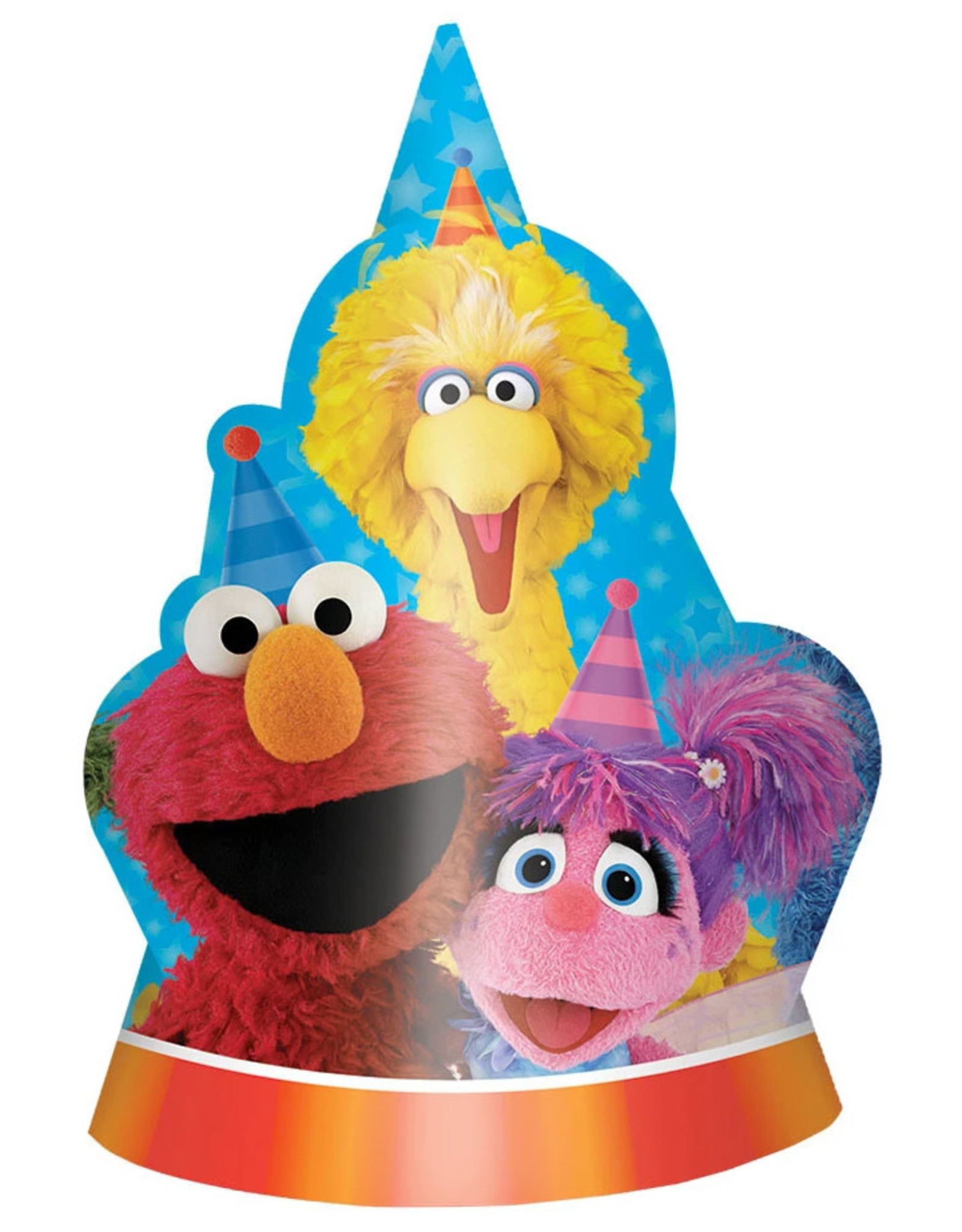 Sesame Street Party Hats - 8ct