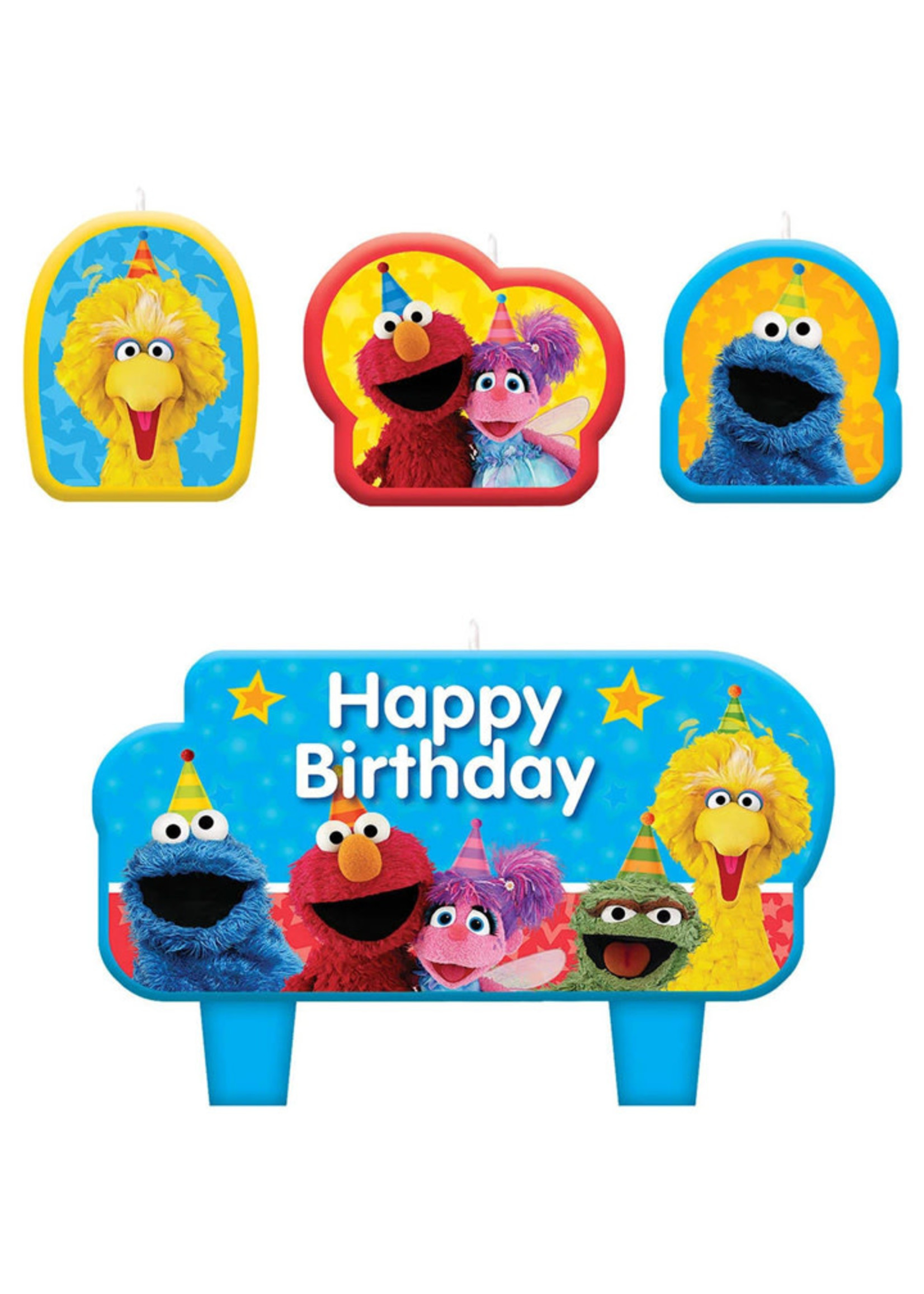 Sesame Street Candle Set - 4ct